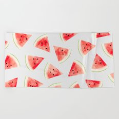 Watercolor Watermelon Pattern #society6 #buyart #decor Beach Towel