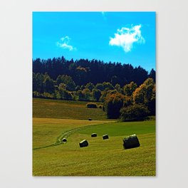 The battle of bales Canvas Print