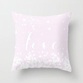 Delicate Love Rose Pink Glitter Design Throw Pillow