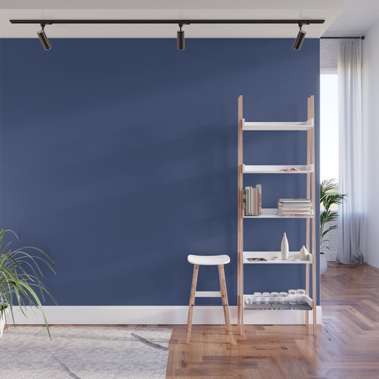 Ppg Glidden Daring Indigo Royal Deep Blue Ppg1166 7 Solid Color Wall Mural By Simplysolids Society6