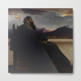 """David: """"Oh, that I had wings like a Dove! For then would I fly away, and be at rest."""" Psalm 55:6 by Frederic Leighton Metal Print"""