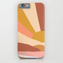 Golden Rainbow Sunset - Earthy Retro iPhone Case