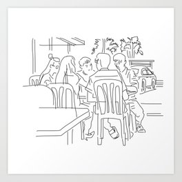 Finger Drawing 93 - Colleagues Art Print
