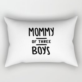 Mommy Of Three Boys Mother's Day Gift Rectangular Pillow