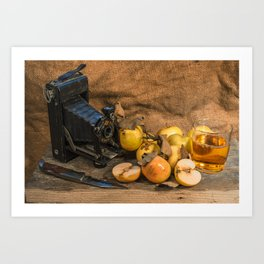 Agfa and Apples Art Print
