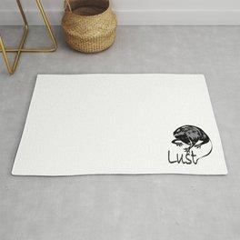 """Lust Rat"" Paulette Lust's Original, Contemporary, Whimsical, Colorful, Art  Rug"