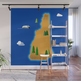 New Hampshire Island Wall Mural