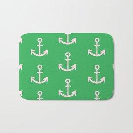 Anchors - Green Bath Mat