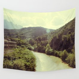 Between Mountains  Wall Tapestry