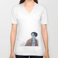 levi V-neck T-shirts featuring Levi by sushishishi