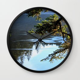 Ice Refelctions Photography Print Wall Clock