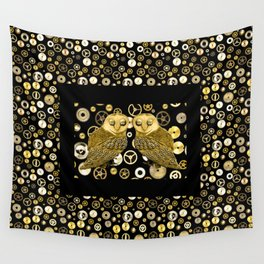 Cogs and Owls Wall Tapestry