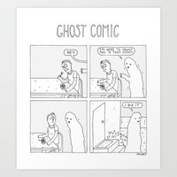 Ghost Comic Art Print
