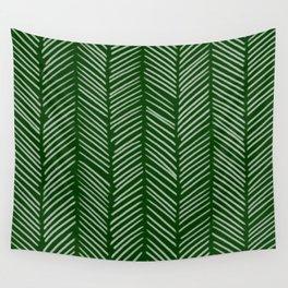 Forest Green Herringbone Wall Tapestry