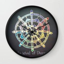 The Wheel of Dharma Wall Clock