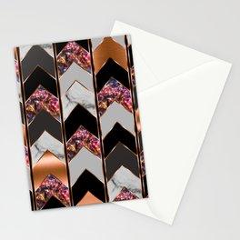 Chevron Peacock Stationery Cards