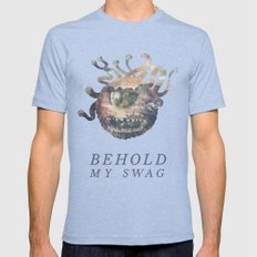 Beholder (Typography) Tri-Blue X-LARGE Mens Fitted Tee