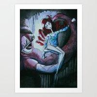 dumbo Art Prints featuring Dumbo by Hannah Lieberman