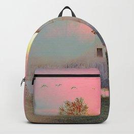 OLD BARN IN THE FOG Backpack