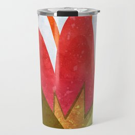 Giant red flower Travel Mug