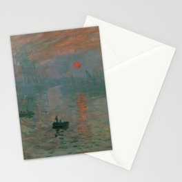 Claude Monet - Impression, Sunrise Stationery Cards
