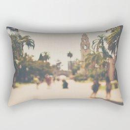 walking through Balboa Park in San Diego, California Rectangular Pillow