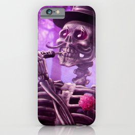 """""""Move your body!"""" - The musician skeleton iPhone Case"""