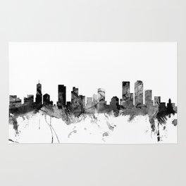 Denver Colorado Skyline Rug