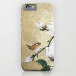 Minhwa: A Wren on the Magnolia(Korean traditional/folk art) iPhone Case
