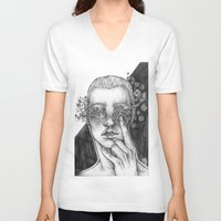 diamonds V-neck T-shirts featuring Diamonds by Purple Enma Art