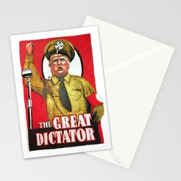 Donald Trump The Great Dictator Stationery Cards