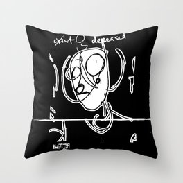 Exist and Deceased Throw Pillow