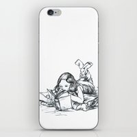 reading iPhone & iPod Skins featuring Reading by ejbeachy