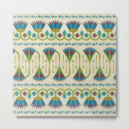 Egyptian Floral Border Pattern 2 Metal Print