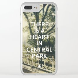 New York (There is a Heart in Central Park) Clear iPhone Case