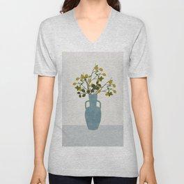 Vase with Lemon Branches Unisex V-Neck