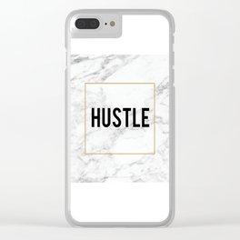 HUSTLE MARBLE DECOR, Hustle Boss,Hustle Art,Hustle Print,Marble Print,Modern Art,Fashion Print,Motiv Clear iPhone Case