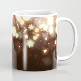 Stars Can't Shine Without Darkness sparkly lights stardust and fireworks art Coffee Mug