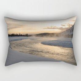 Yellowstone National Park - Sunrise along the Madison River Rectangular Pillow