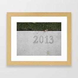 Granville Island sidewalk stamp 2013 Framed Art Print