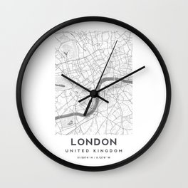 London City Map, High Resolution Clean Style for Wall Art, Posters, Prints, Tshirts, Men, Women, Youth Wall Clock