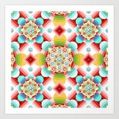 Millefiori Ombre Geometric Art Print