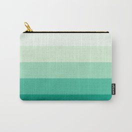 Pastel Green Stripes Carry-All Pouch