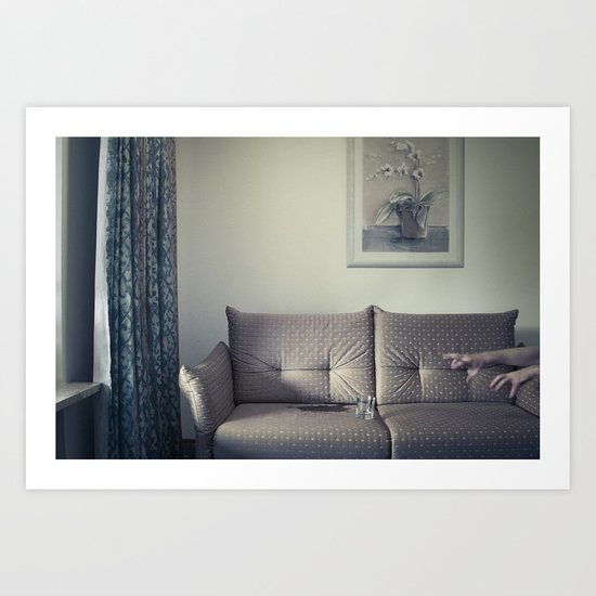 meanwhile, in a small Hotel... Art Print