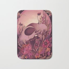 Autumn Skull Bath Mat