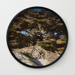 Ancient Wisdom, the California Monterey Cypress Tree Wall Clock
