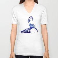 celestial V-neck T-shirts featuring Celestial III by Stevyn Llewellyn