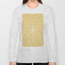 Single Snowflake - Yellow Long Sleeve T-shirt