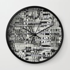 Exploiting Digital Behavior (P/D3 Glitch Collage Studies) Wall Clock