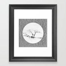Scots Pine Paper Bag Grey Framed Art Print